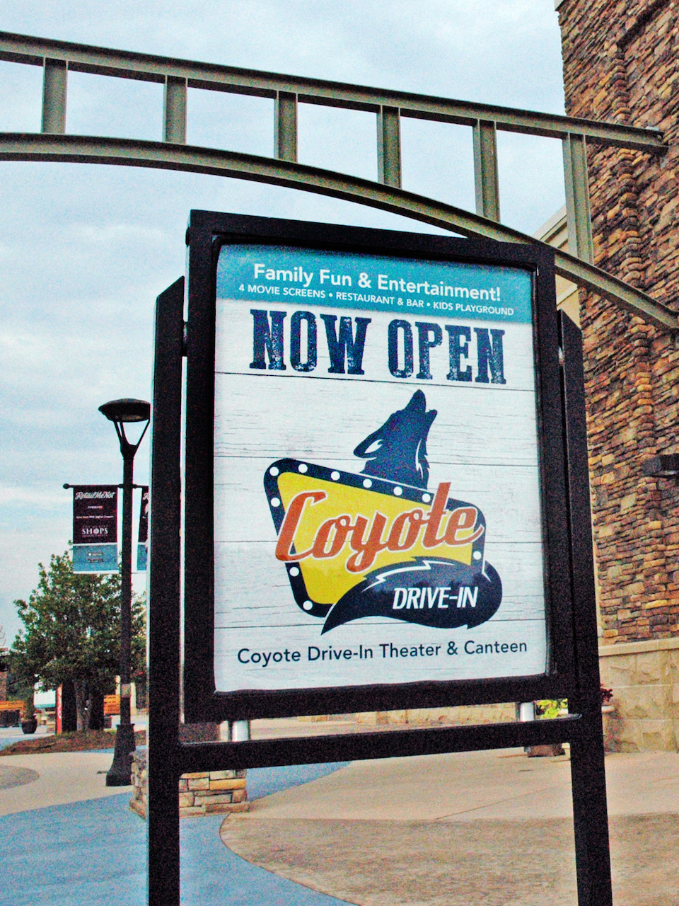 The Coyote Drive-In & Canteen is conveniently located on the northwest side of the Outlet Shops of Grand River in Leeds.