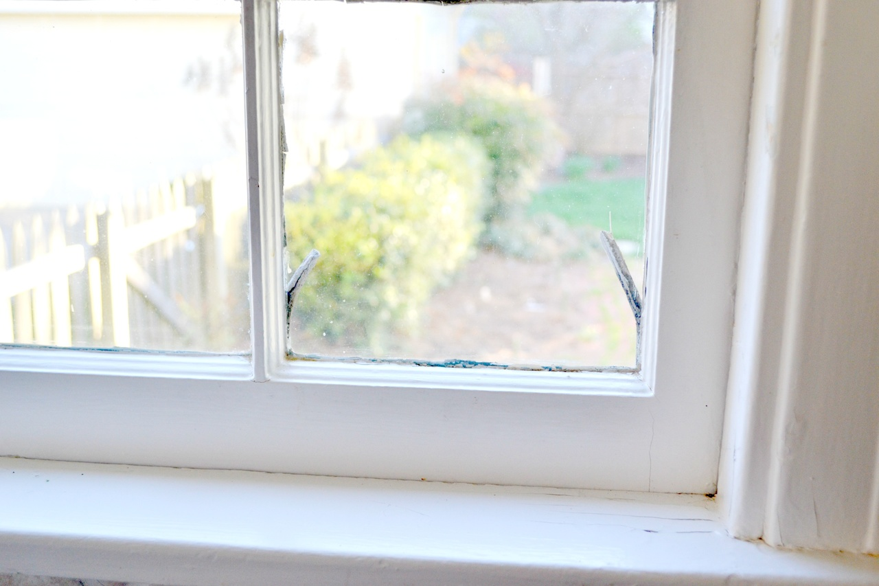 1940s window panes are showing signs of wear