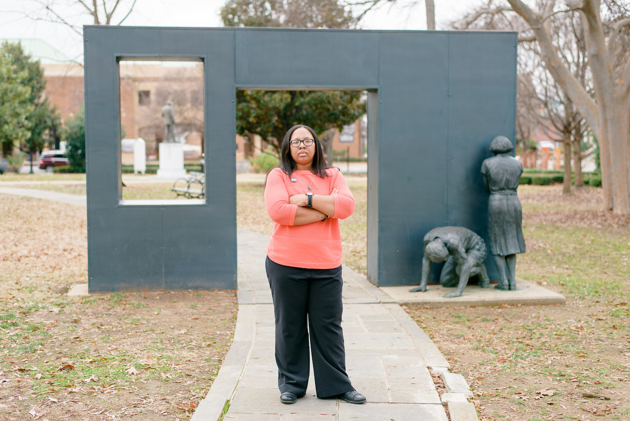 "The commemorative march from Selma to Montgomery in 2015 was very spiritual for T. Marie. ""It got me to a place of thinking that I could be doing so much better and so much more than what I'm doing now,"" she says."
