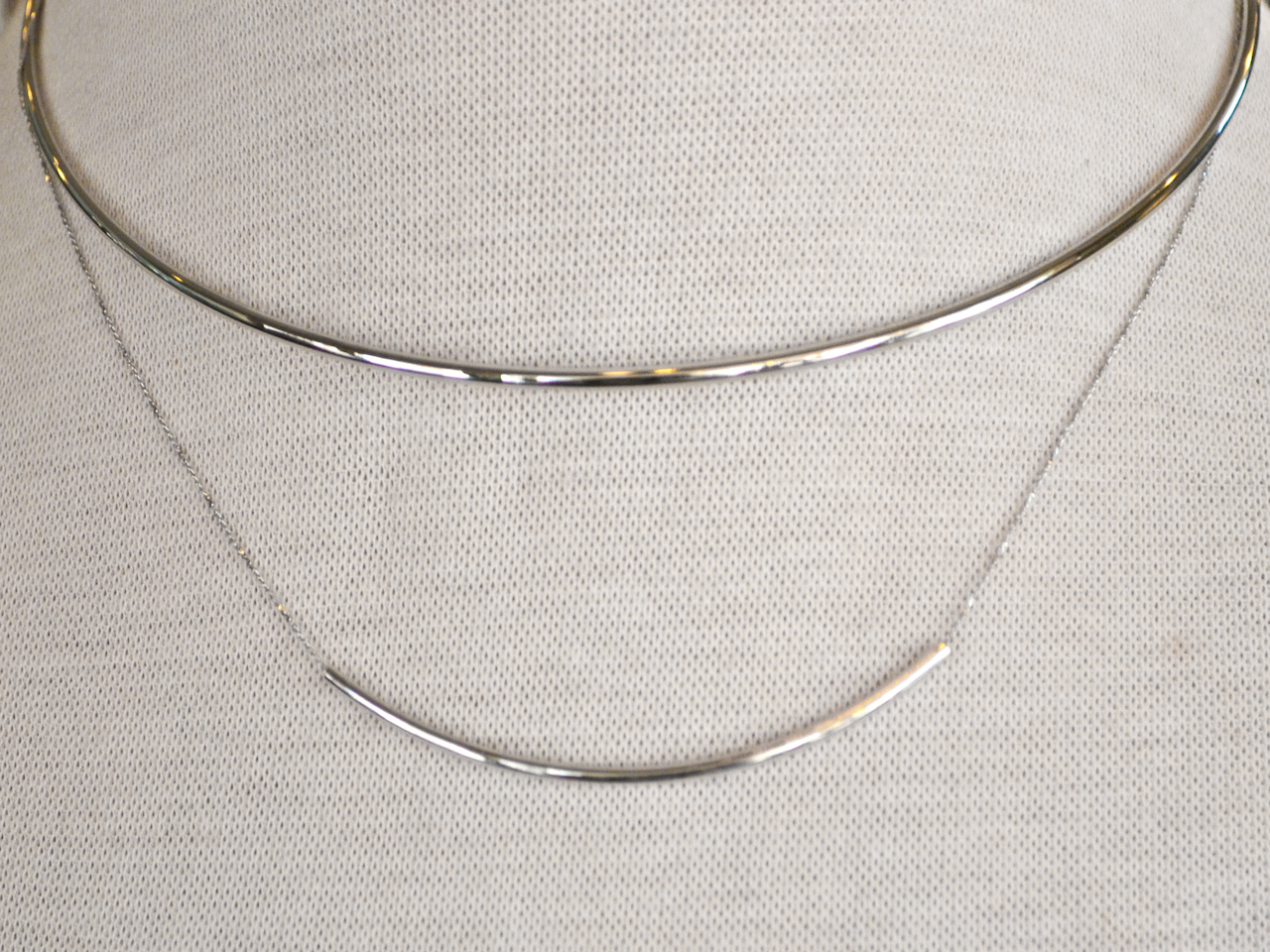 This delicate necklace makes a big statement