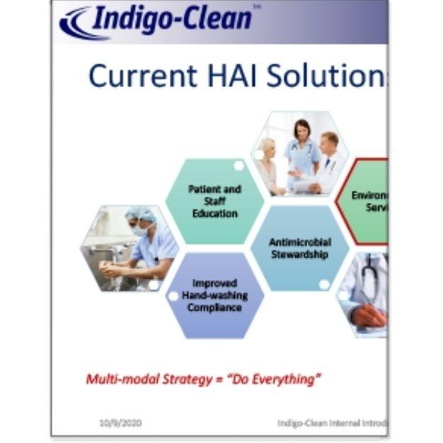 Indigo-Clean Current HAI Solutions Comparison Chart