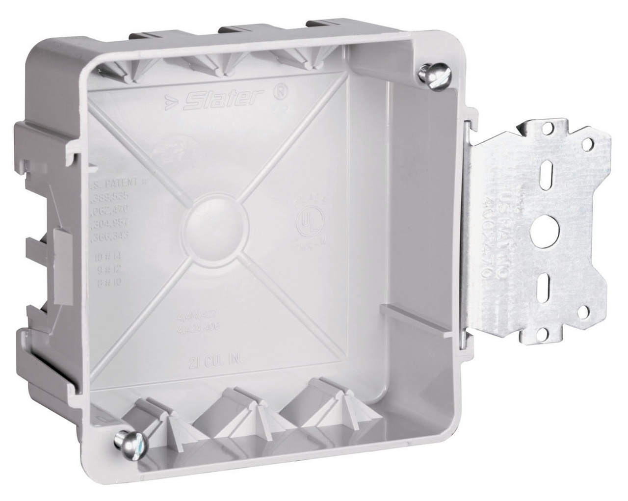 "4"" Square Box with Threaded Mounting Holes, S4421SAC"
