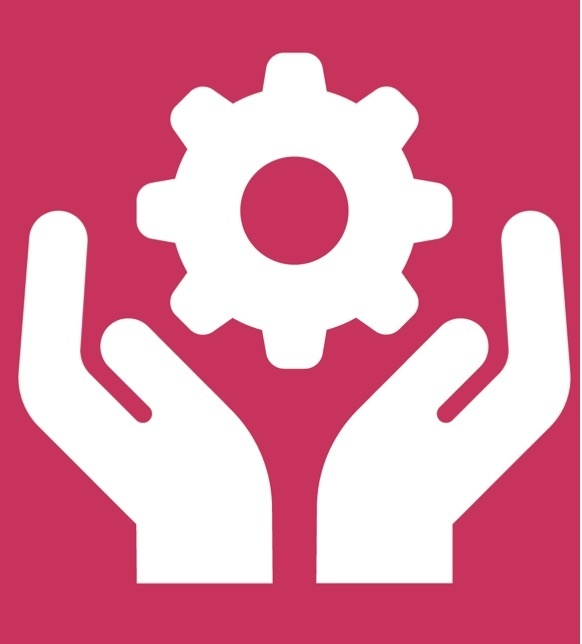 hands with gear icon