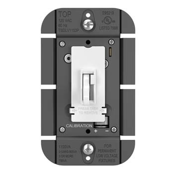 Toggle Slide Dimmer Magnetic Low Voltage, Single Pole / 3-Way 1100VA, White