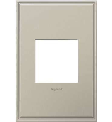 adorne 1-Gang Antique Nickel Wall Plate