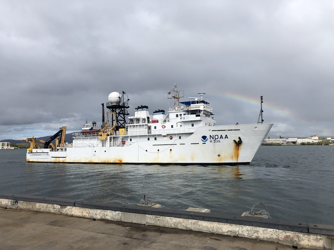Our project has reached its halfway point. The Sette returned to Honolulu on Wednesday, February 12th to replenish supplies and provide a few days of rest to the crew, then returned to sea on Monday, February 17th to continue the survey effort. Photo: NOAA Fisheries/Kymberly Yano.