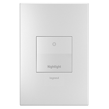 Nightlight White Wall Plate