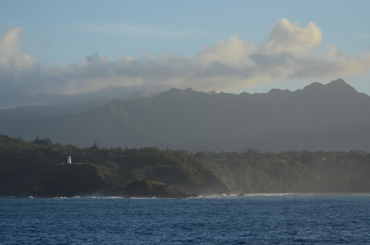 Kilauea Lighthouse, Kauai, as seen from the Oscar Elton Sette. Photo: NOAA Fisheries/Christopher Hoefer.