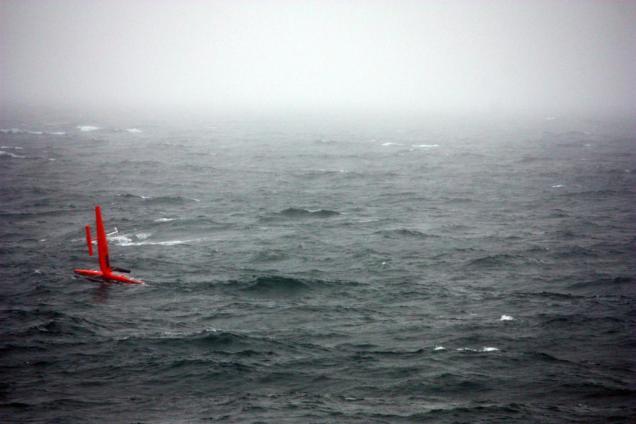 Saildrone navigates a stormy Bering Sea