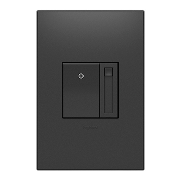 adorne graphite dimmer and wall plate