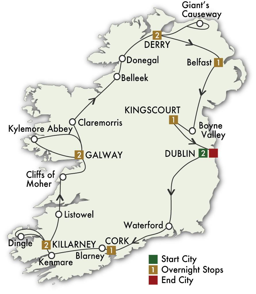 2022 Irish Odyssey - 12 Days/11 Nights