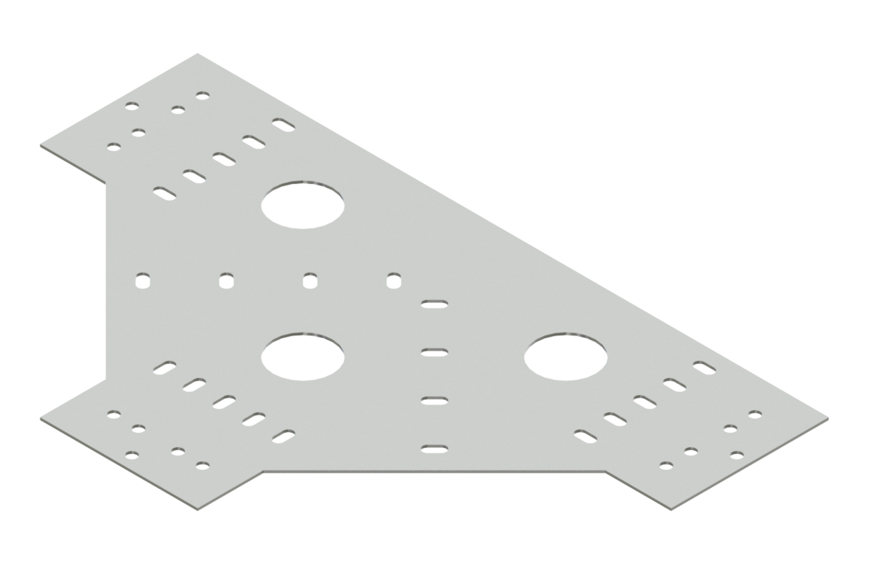 Cable Channel Tray Horizontal Tee Connector