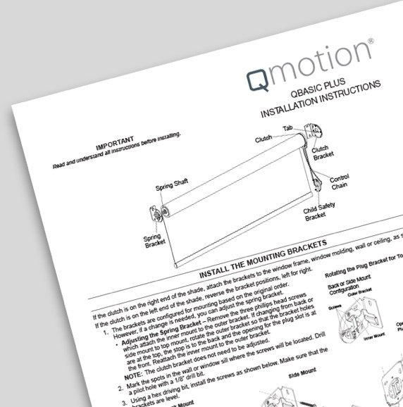 Qmotion Installation Instructions