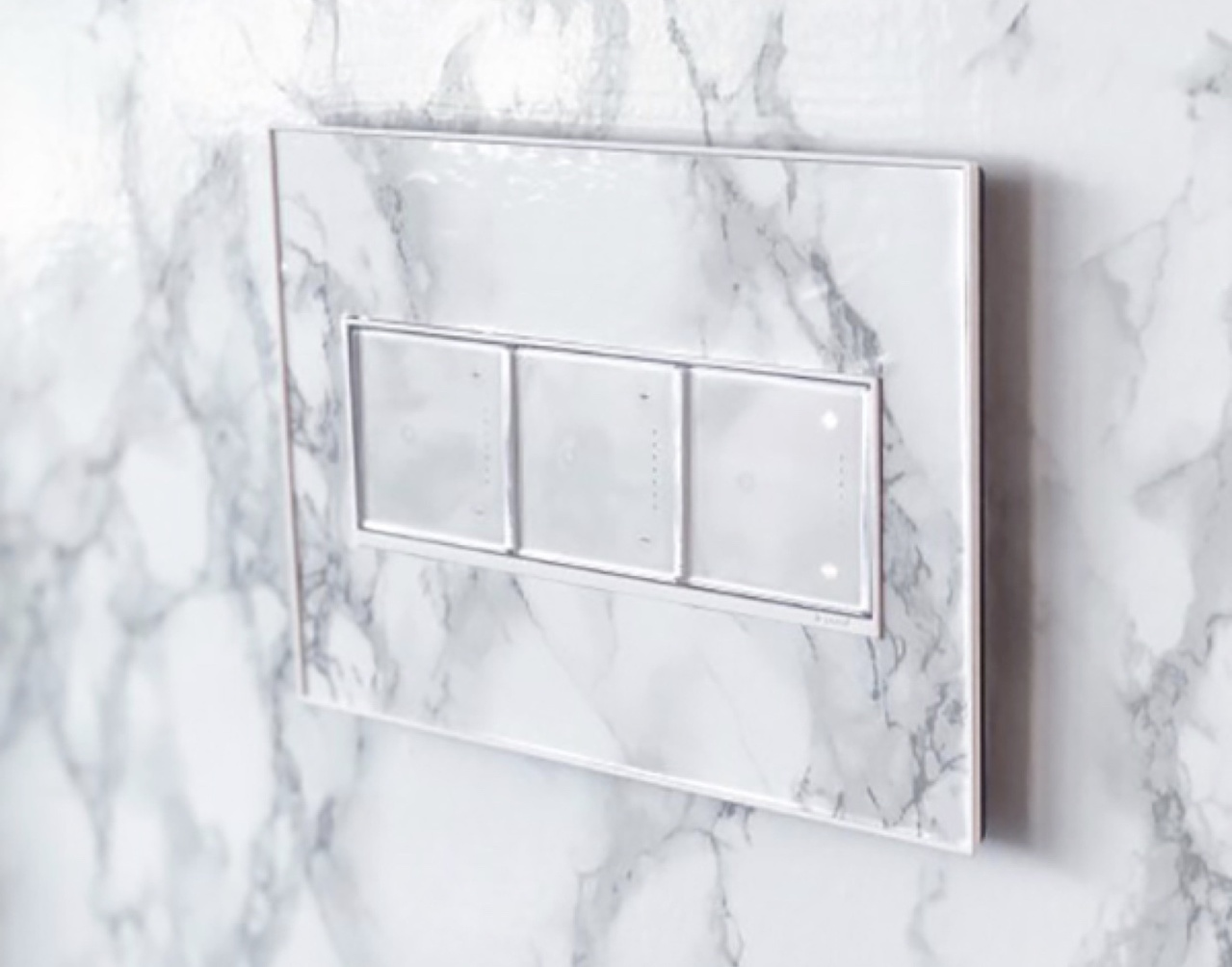 adorne switches and dimmers with marble pattern custom wall plate