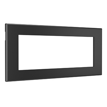 Furniture Power Replacement Bezel For 2-Outlet Unit - Black