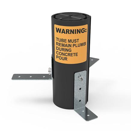 Black tube with orange Warning label