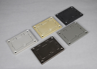 Powder-Coated Aluminum Rectangular Cover Plate, 828GFITCAL