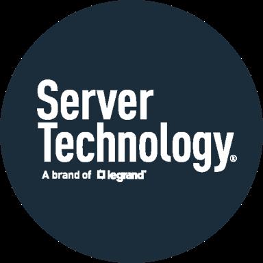 Dark blue circle with white Server Technology logo