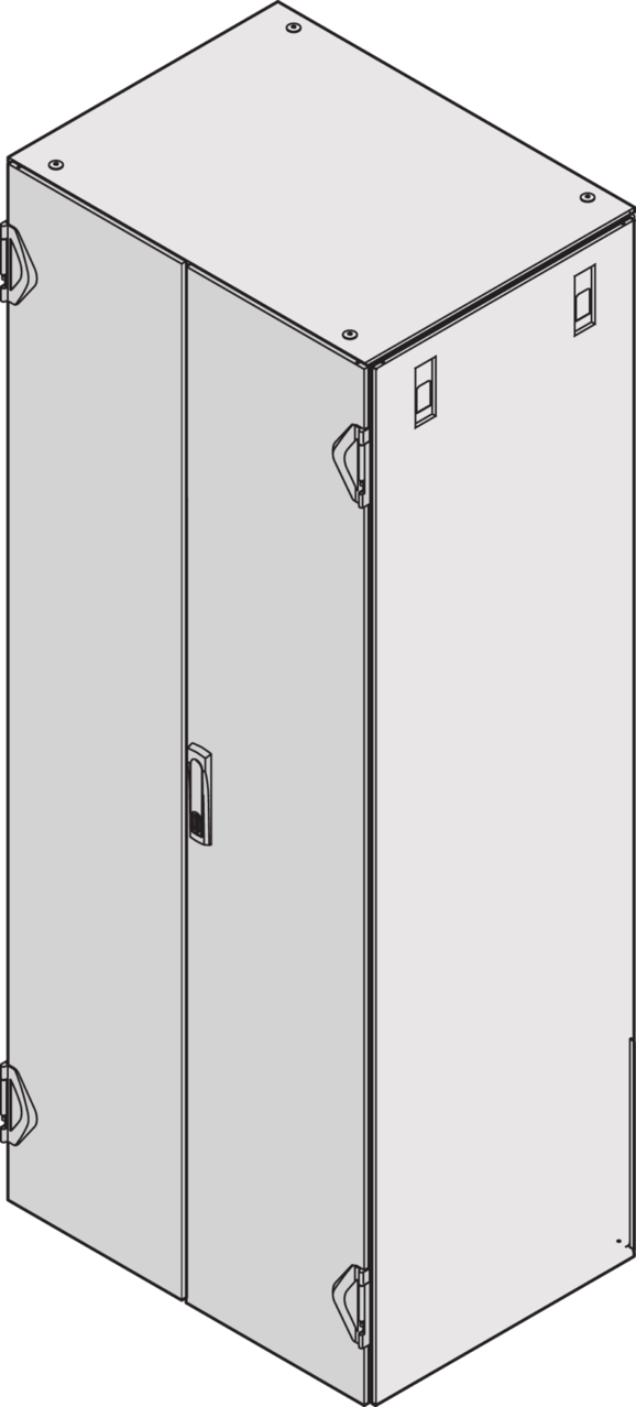 Imagen para Double door IP 20, plain, 3-point locking de Schroff - Norteamérica