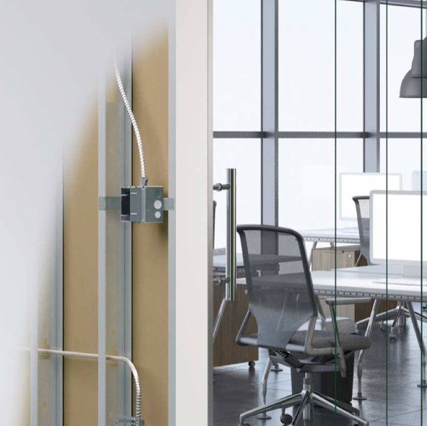 exterior of installed wall box in office