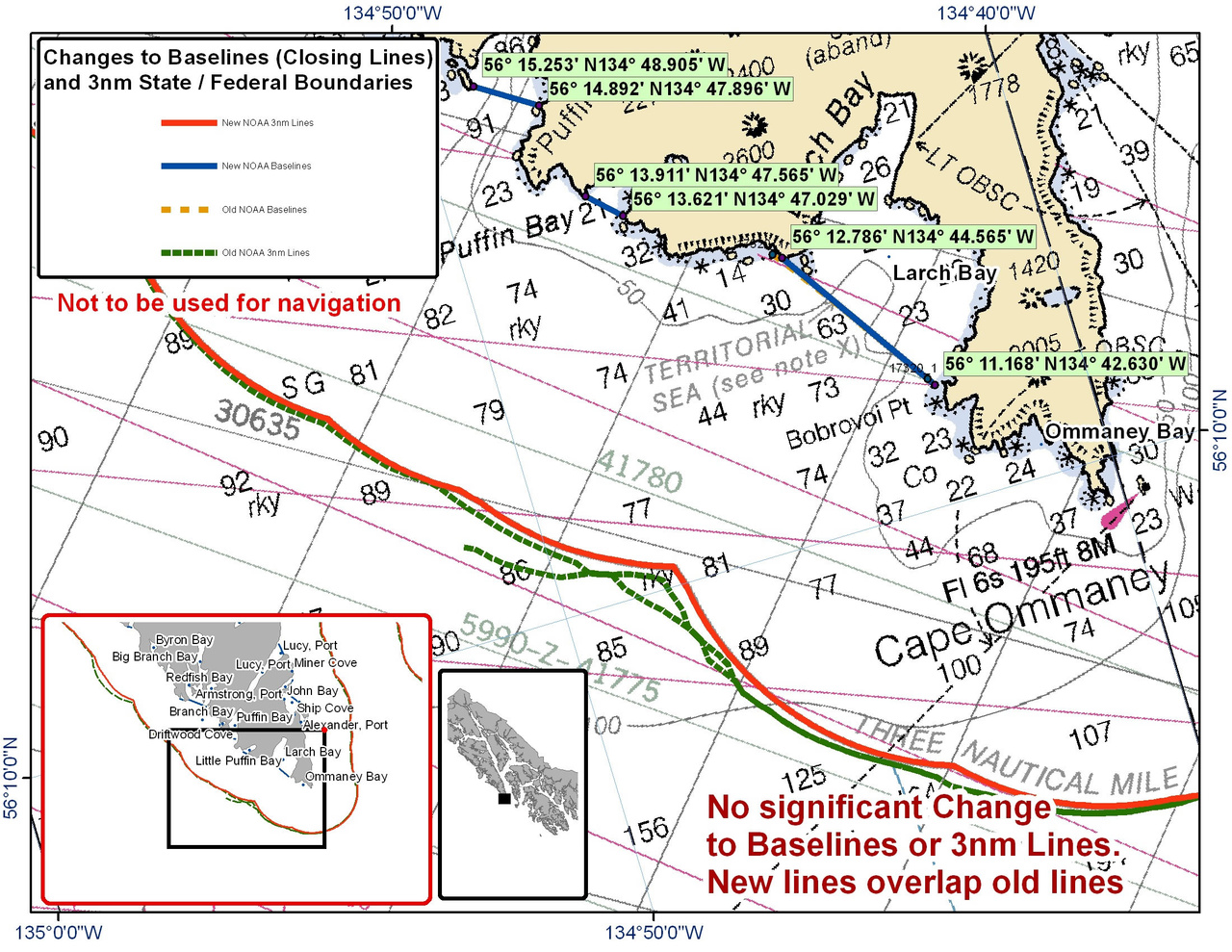 Chart for Larch Bay and the Surrounding Area