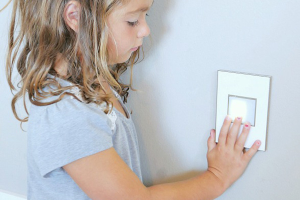 Mirror White on White, 1-Gang Wall Plate