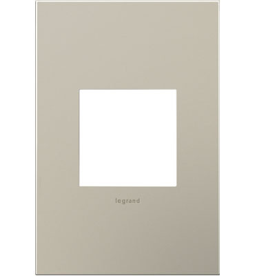 adorne 1-Gang Satin Nickel Wall Plate