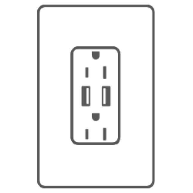 Usb outlet and wall plate animation