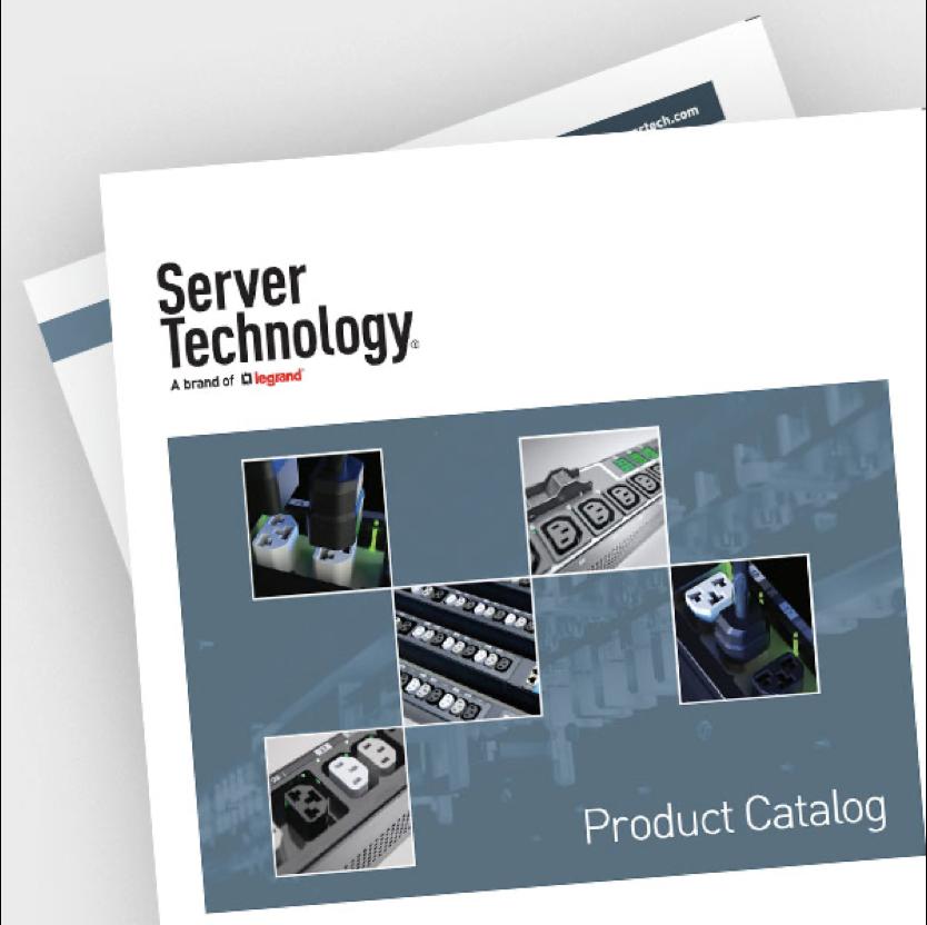 Screen shot of Server Technology product catalog