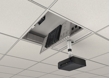 Evolution Ceiling Box with shelf pivoting