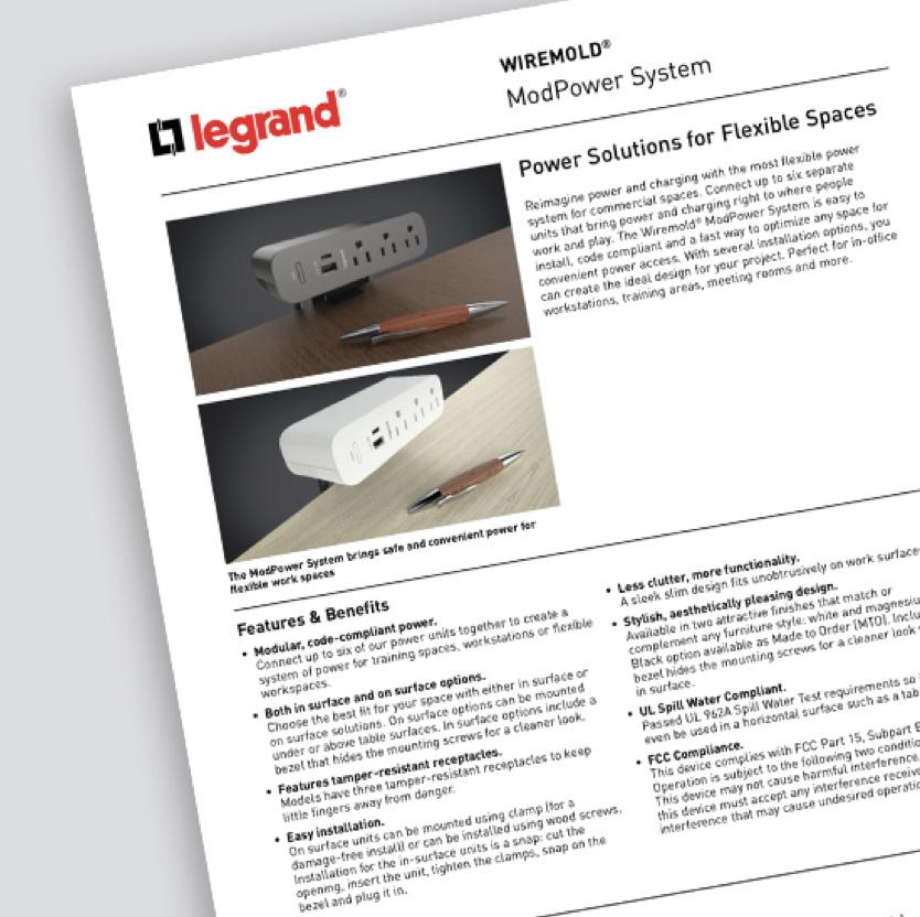ModPower System cutsheet