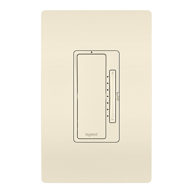 ivory radiant dimmer switch and wall plate image