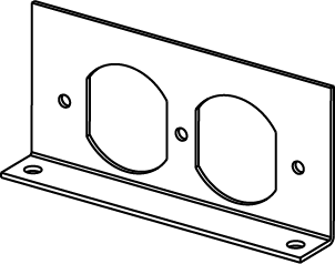 RFB2 Series Internal Duplex Receptacle Bracket, RFB2DP