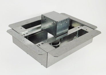 8801S-FC 1-gang flush floor box isometric view