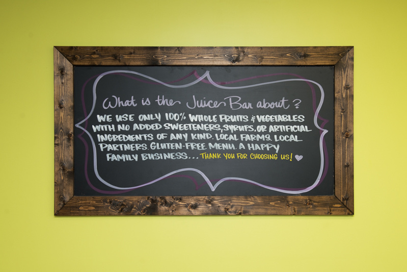 Juice Bar uses 100% whole fruits and vegetables!