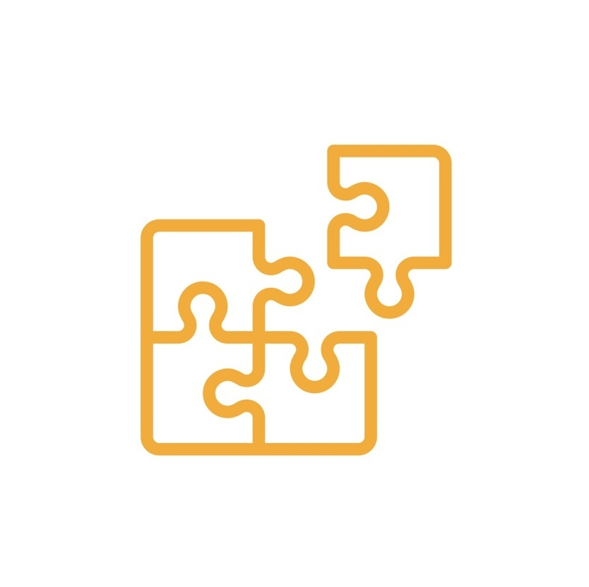 Puzzle piece in yellow icon