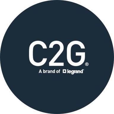 C2G logo with navy blue background