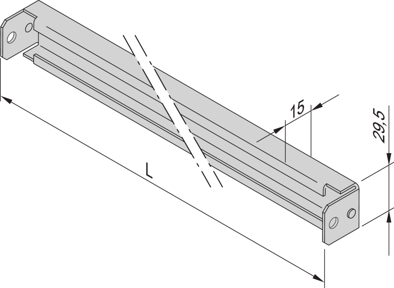 Image for C-rail for cabinet width (Varistar) from Schroff | Europe, Middle East, Africa and India