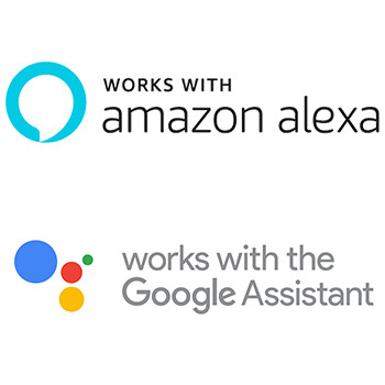 Works with Amazon Alexa and the Google Assistant