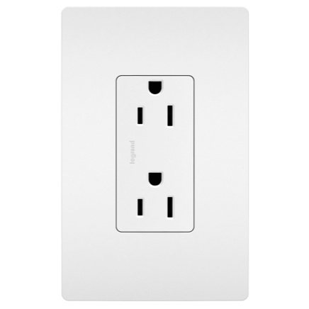radiant Collection outlet with screwless wall plate
