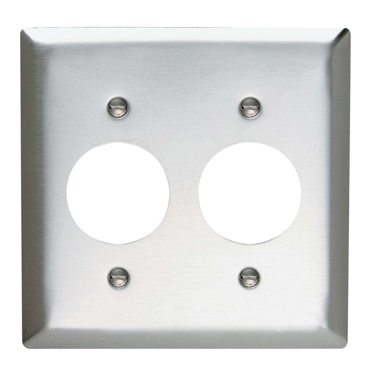 Single Receptacle Openings, Two Gang, 302/304 Stainless Steel