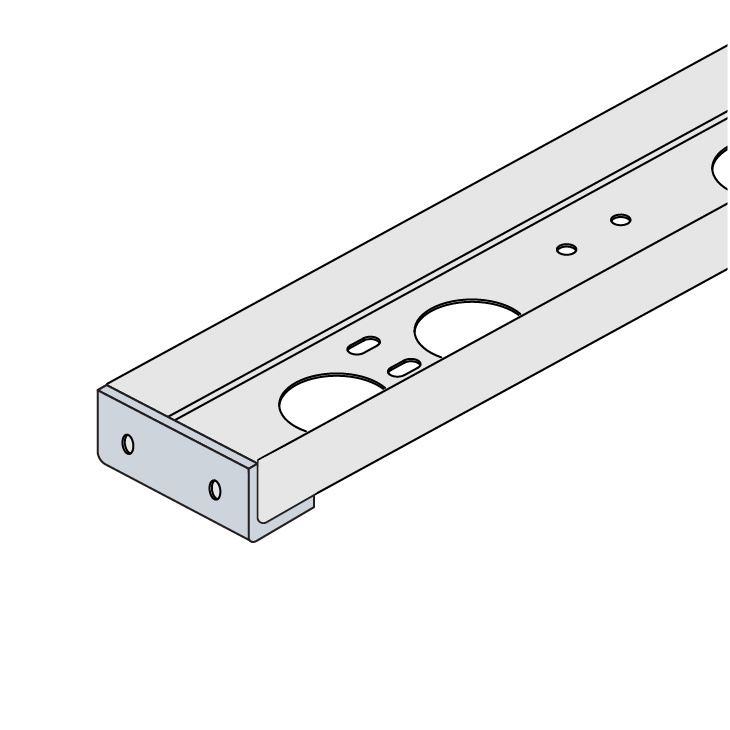 Cable Channel Tray Metallic Blind-End Connector