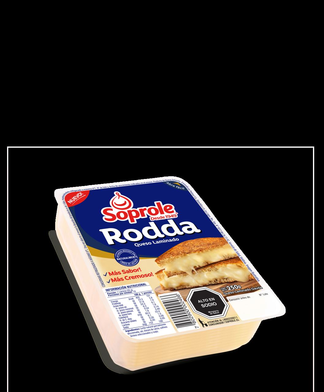 Soprole queso Rodda laminado 250g