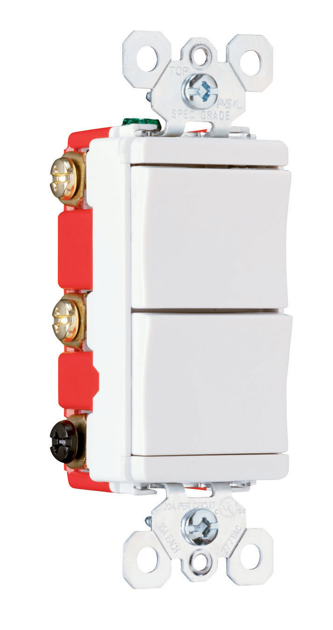 Specification Grade Decorator Combination Switch, PS81120W