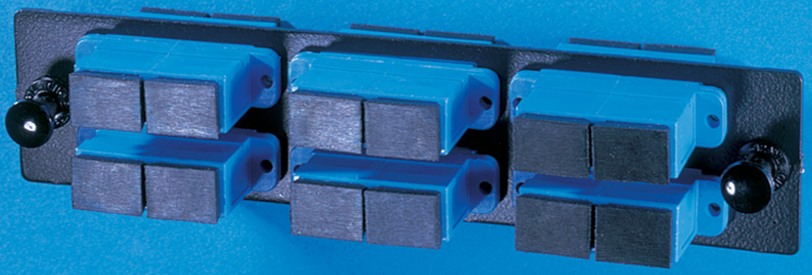 6-SC-Duplex (12 fibers) single mode adapters with ceramic alignment sleeves, OR-OFP-SCD12AC