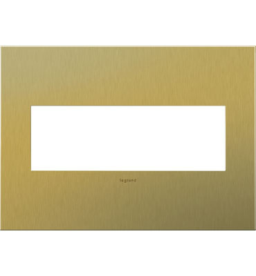 adorne 3-Gang Brushed Brass Wall Plate