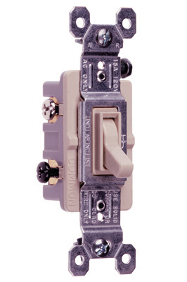 TradeMaster Grounding Toggle Switch, Light Almond, 663LAG