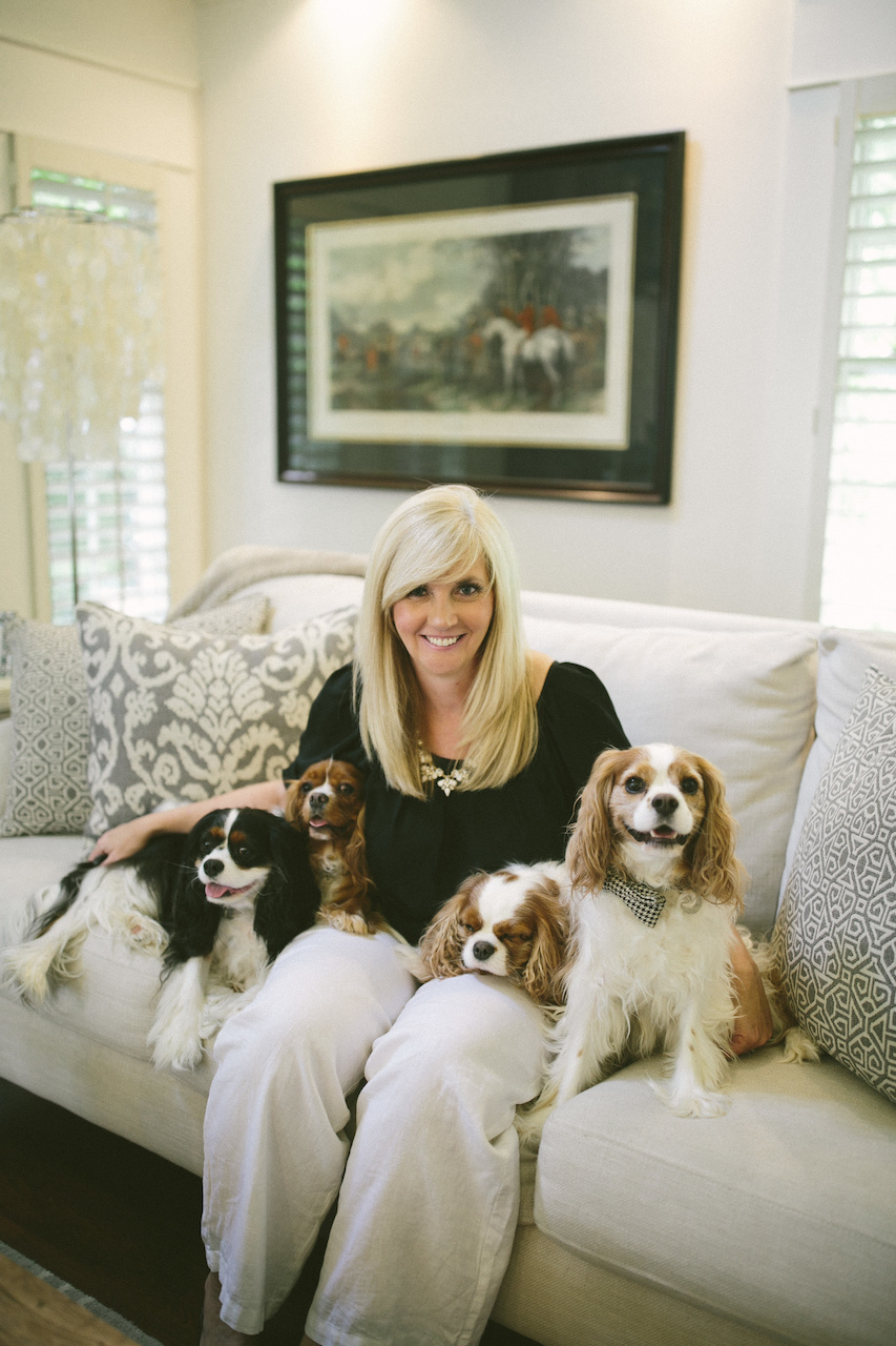 Angie with her fur babies