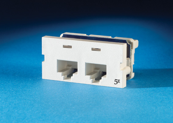 Series II, two-port Clarity 5E,T568A/B, 180 degree, OR-S225E00