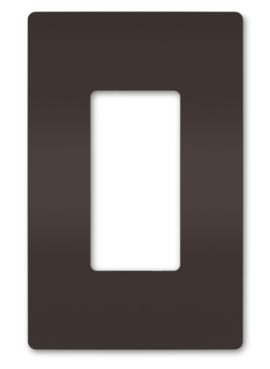 One-Gang Screwless Wall Plate, Brown